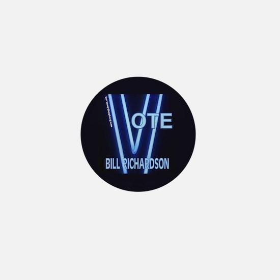 Bill Richardson Neon Vote Mini Button