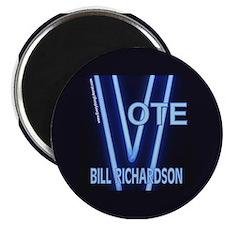 Bill Richardson Neon Vote Magnet