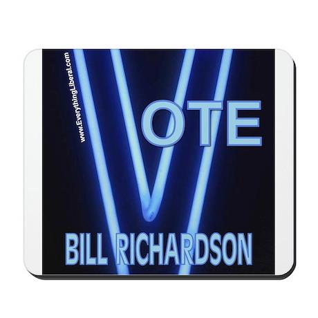 Bill Richardson Neon Vote Mousepad