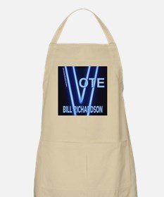 Bill Richardson Neon Vote BBQ Apron