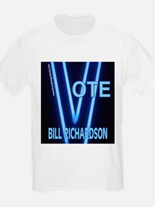 Bill Richardson Neon Vote Kids T-Shirt