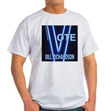 Bill Richardson Neon Vote Ash Grey T-Shirt