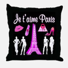 PARIS FASHION Throw Pillow