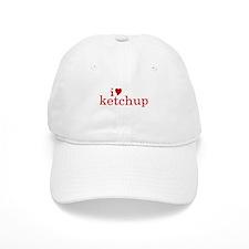I love Ketchup (text) Baseball Cap