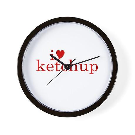 I love Ketchup (text) Wall Clock
