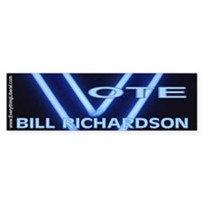 Bill Richardson Neon Vote Bumper Bumper Bumper Sticker