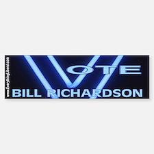 Bill Richardson Neon Vote Bumper Bumper Bumper Sticker