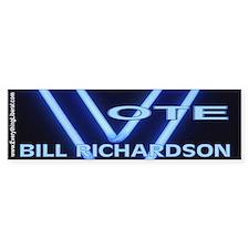 Bill Richardson Neon Vote Bumper Bumper Sticker