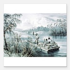 Floating down to market - 1870 Square Car Magnet 3