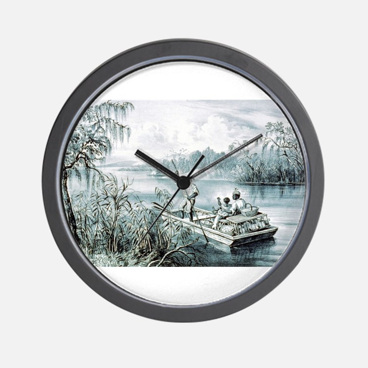 Floating down to market - 1870 Wall Clock
