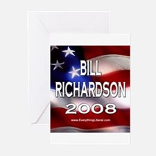 Bill Richardson Flag II Greeting Cards (Package of
