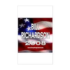 Bill Richardson Flag II Rectangle Decal