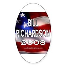 Bill Richardson Flag II Oval Decal