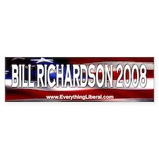 Bill Richardson Flag II Bumper Bumper Sticker