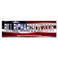 Bill Richardson Flag II Bumper Car Sticker