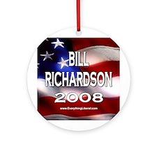 Bill Richardson Flag II Ornament (Round)