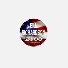 Bill Richardson Flag II Mini Button