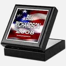 Bill Richardson Flag II Keepsake Box