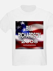Bill Richardson Flag II Kids T-Shirt