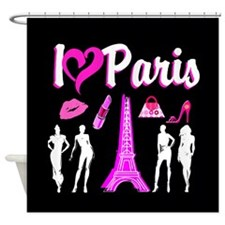 LOVE PARIS Shower Curtain