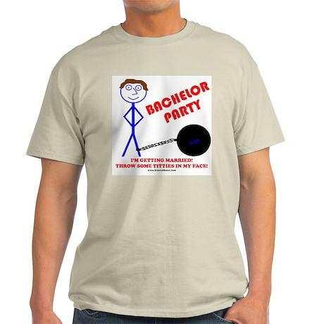 Bachelor Titties Ash Grey T-Shirt