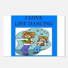 line dancing gifts and t-shir Postcards (Package o