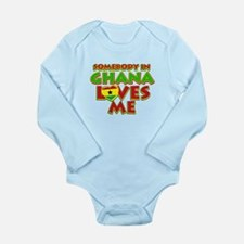 Somebody in Ghana Loves me Long Sleeve Infant Body