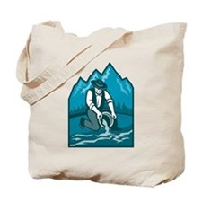 Gold Prospector Miner Pan Retro Tote Bag
