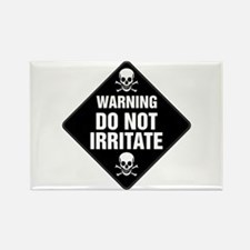DO NOT IRRITATE Warning Sign Rectangle Magnet