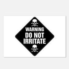 DO NOT IRRITATE Warning Sign Postcards (Package of