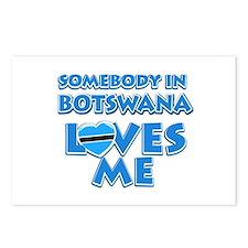 Somebody in Botswana Loves me Postcards (Package o
