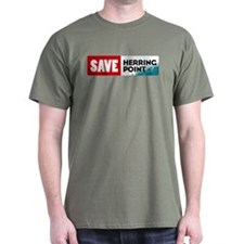 Save Herring Point Military Green T