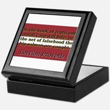 On The Hook Of Truth - Latvian Proverb Keepsake Bo