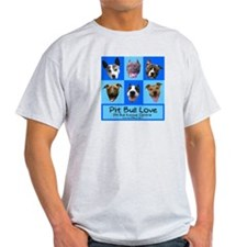 Pitbull Love Ash Grey T-Shirt