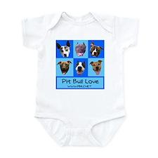 Pitbull Love Infant Creeper