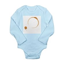 Coffee Stain Long Sleeve Infant Bodysuit