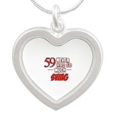 59 Never had so much swag Silver Heart Necklace