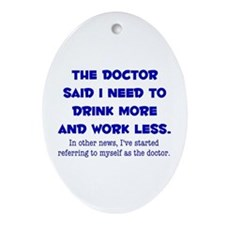 The Doctor Ornament (Oval)