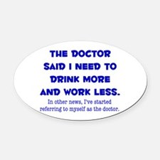 The Doctor Oval Car Magnet