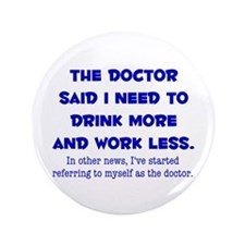"""The Doctor 3.5"""" Button (100 pack)"""