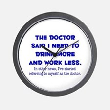 The Doctor Wall Clock