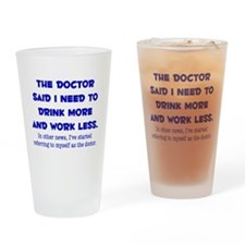 The Doctor Drinking Glass