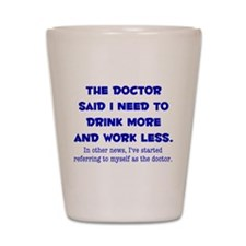 The Doctor Shot Glass
