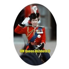 HM Queen Elizabeth II Trooping Ornament (Oval)