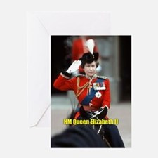 HM Queen Elizabeth II Trooping Greeting Cards