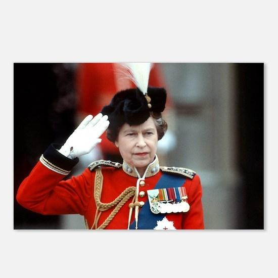 HM Queen Elizabeth II Trooping Postcards (Package