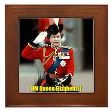 HM Queen Elizabeth II Trooping Framed Tile