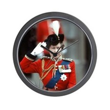 HM Queen Elizabeth II Trooping Wall Clock