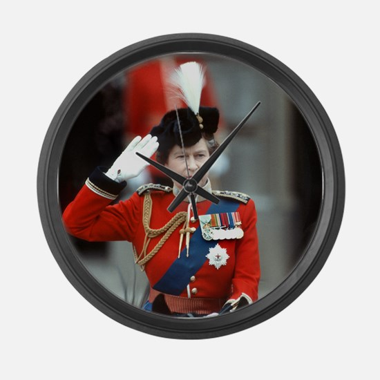 HM Queen Elizabeth II Trooping Large Wall Clock