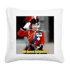 HM Queen Elizabeth II Trooping Square Canvas Pillo